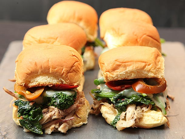 Superbowl Catering menu | Roast Pork Italian Sliders