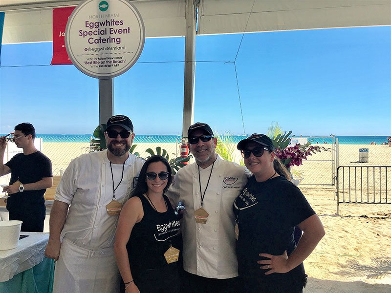 Eggwhites Catering team| South Beach Wine and Food Festival 2017