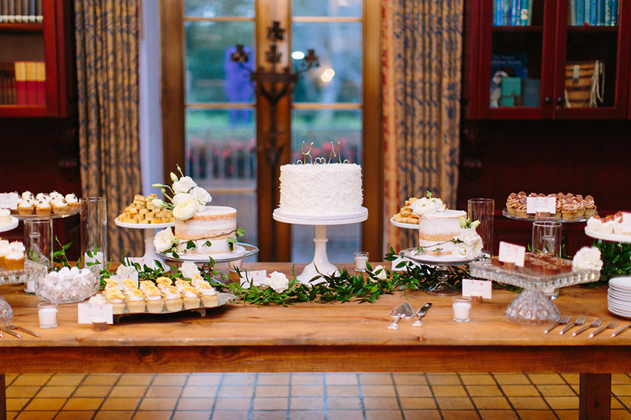 Sweets Table in the Library at Deering Estate wedding