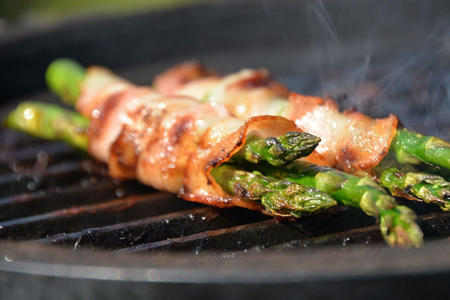 Grilled Asparagus with Prosciutto | Picnic Food | Eggwhites Catering BBQ Menu