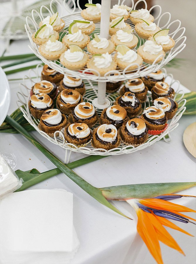 Key Lime Tartlets and s'mores cups | Key West BBQ menu