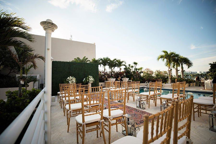 2019 wedding trends | Intimate rooftop wedding ceremony in downtown Miami