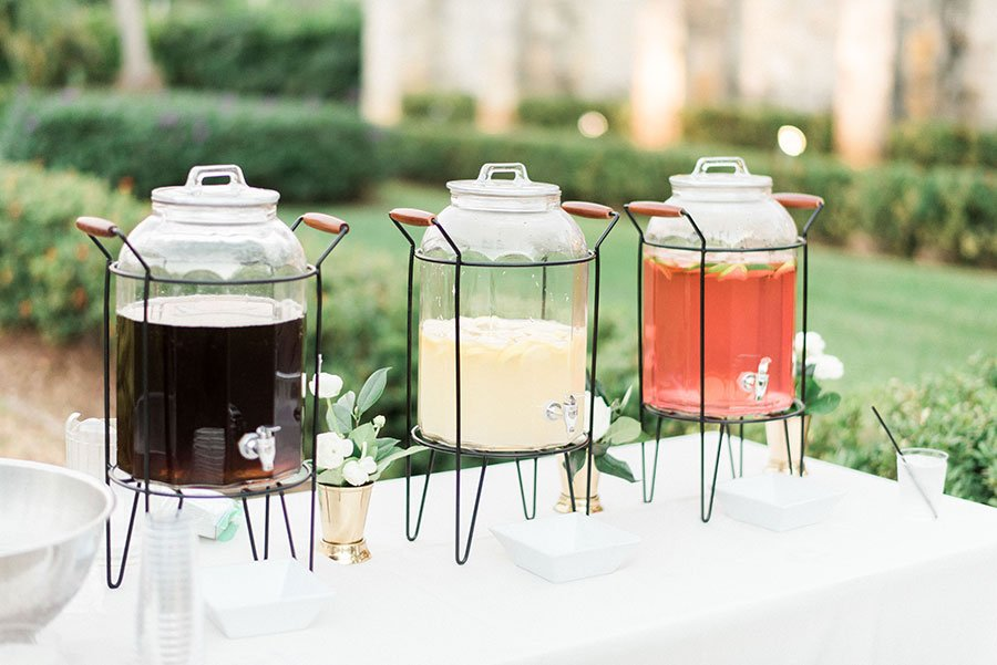 Eco friendly wedding ideas | Agua Fresca Beverage Station