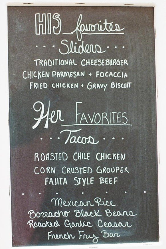 2019 Wedding trends | His Hers Food Station Menu