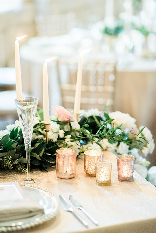 Eco-friendly wedding decor | vintage candle holders