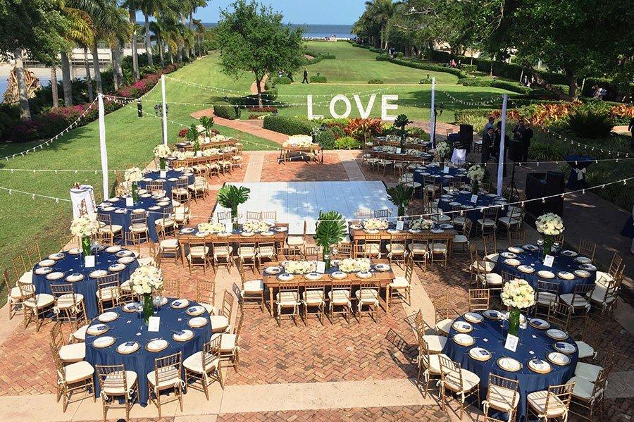Thalatta Estate Palmetto Bay wedding reception | outdoor wedding venues south florida