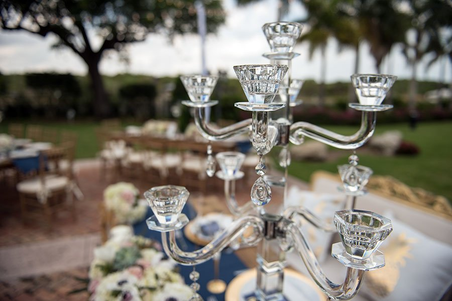 vintage wedding decor | candelabra