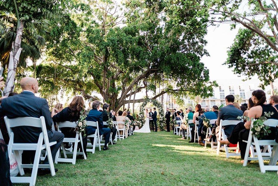 luxury wedding venues in miami outdoor | miami beach botanical garden wedding ceremony