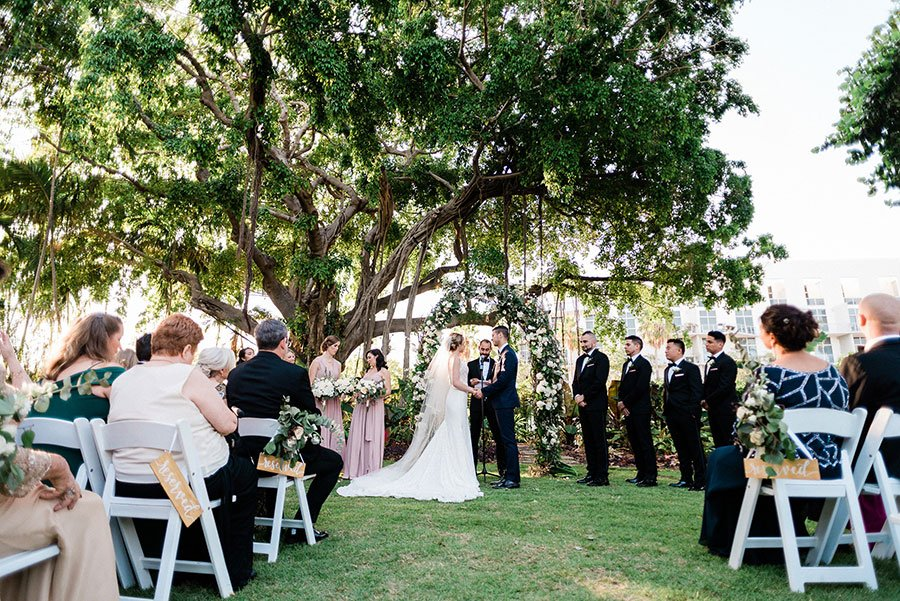 Unique wedding ceremony settings | Miami Beach Botanical Garden