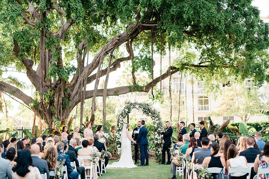 Miami Beach Botanical Garden wedding ceremony