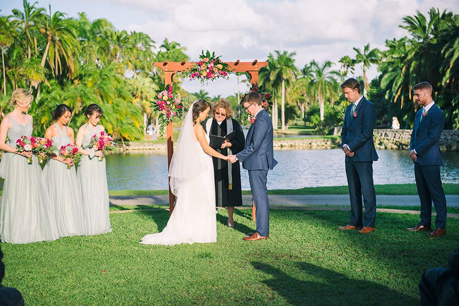 garden wedding venues Miami | Fairchild Tropical Garden wedding | Jiwon and Matt