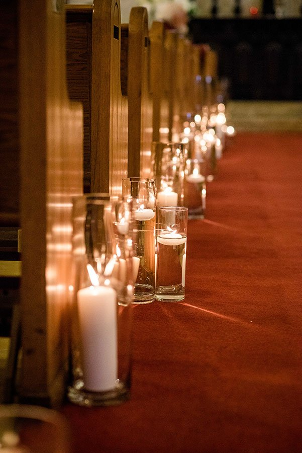 eco friendly wedding ideas | candlelit chapel