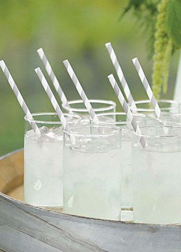 Eco friendly wedding ideas | Bio-degradable paper straws