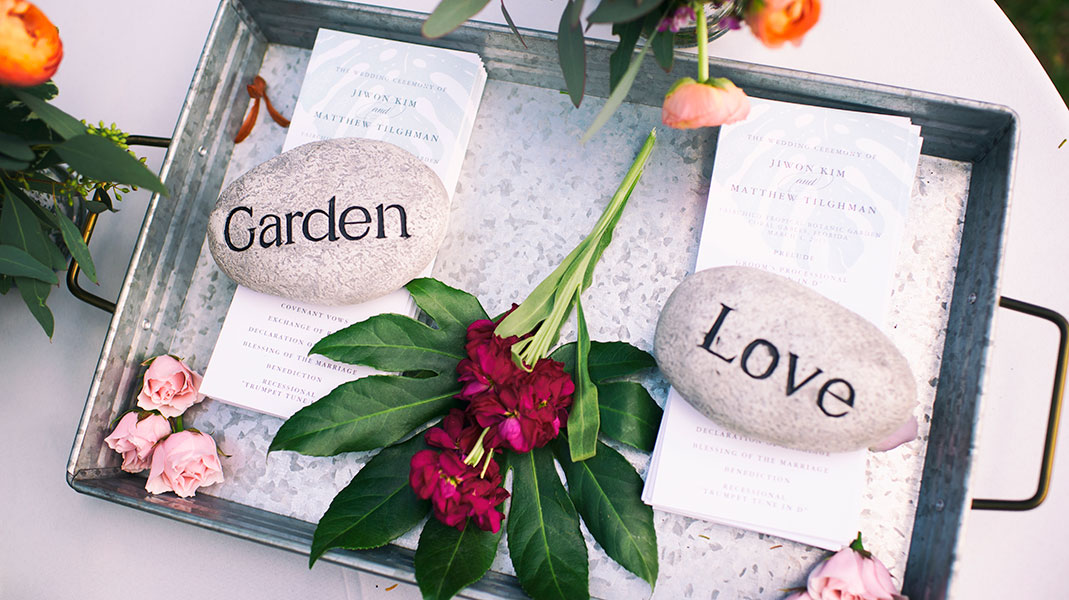 Wedding programs | Fairchild Tropical Botanic Garden | Jiwon and Matt