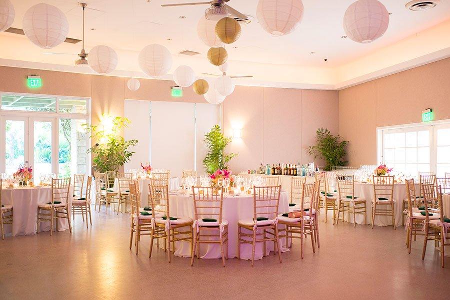 Reception at Fairchild Tropical Botanic Garden wedding | Jiwon and Matt