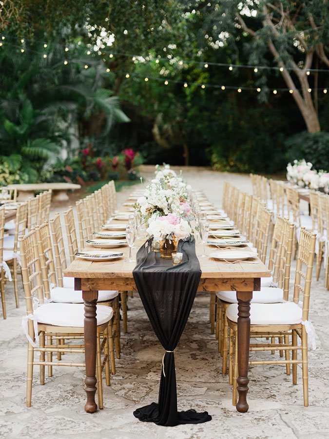 eco friendly wedding decor | fabric remnant runners