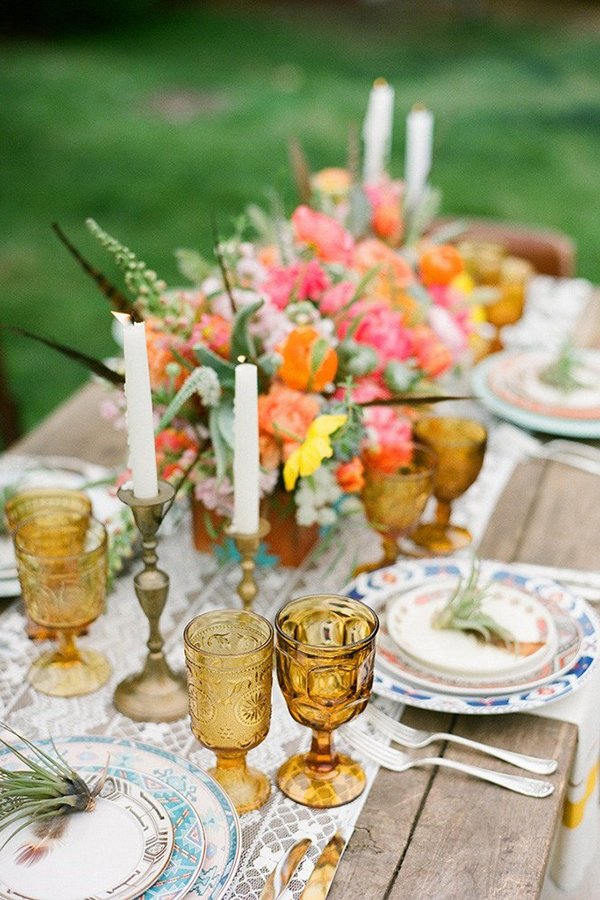 Wedding trends 2019 | mix and match table settings