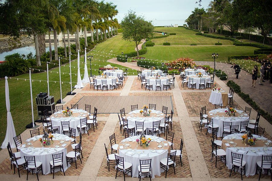Outdoor Wedding Venues Miami | Thalatta Estate Wedding Reception Set Up