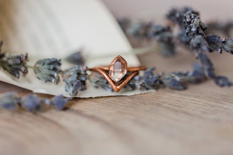 Alternative wedding rings | Diamond Chevron wedding ring by Olivia Mar RAW