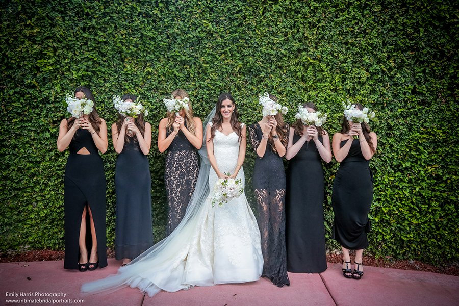 Non traditional wedding style | bridesmaid mix & match attire