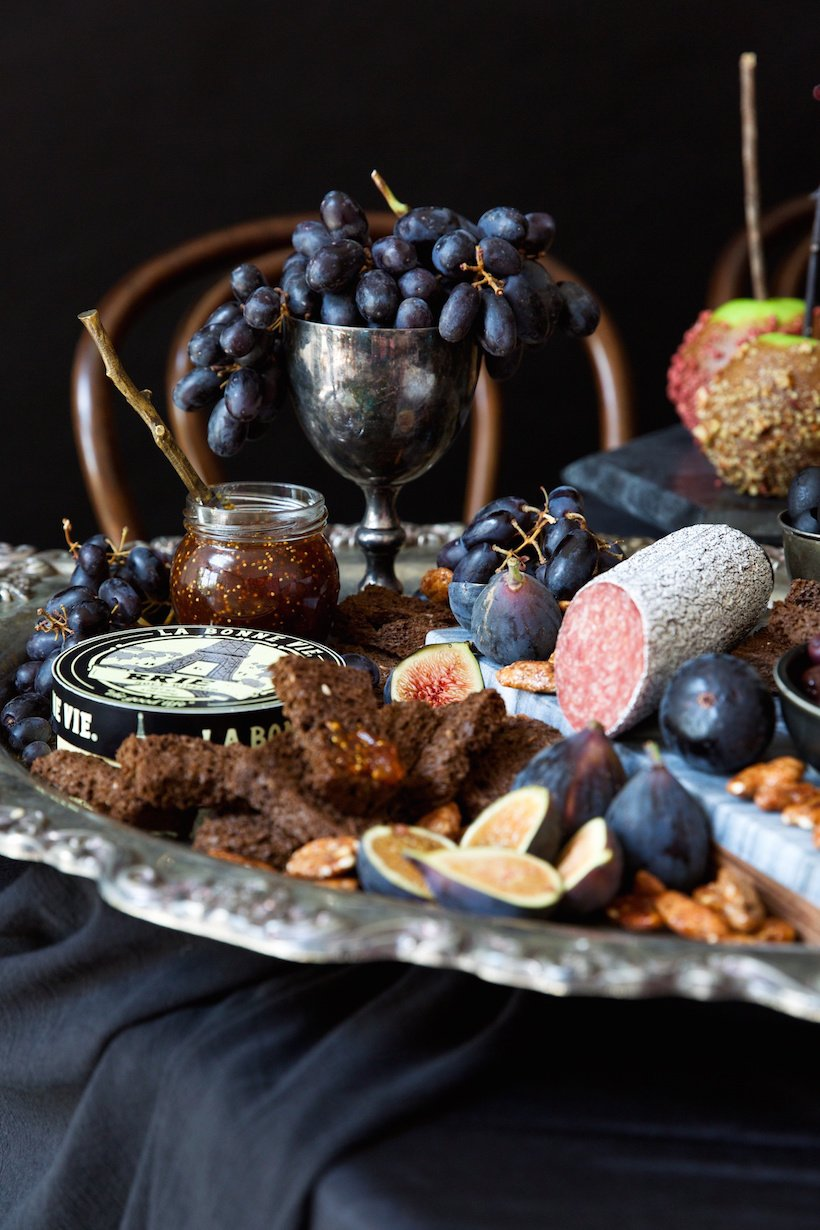 halloween themed catering | cheese and charcuterie
