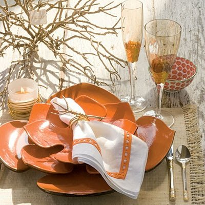 yacht party catering | coral table setting