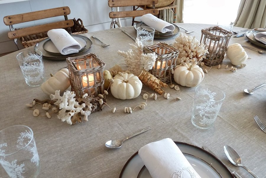 Thanksgiving dinner Miami | coastal tablescape