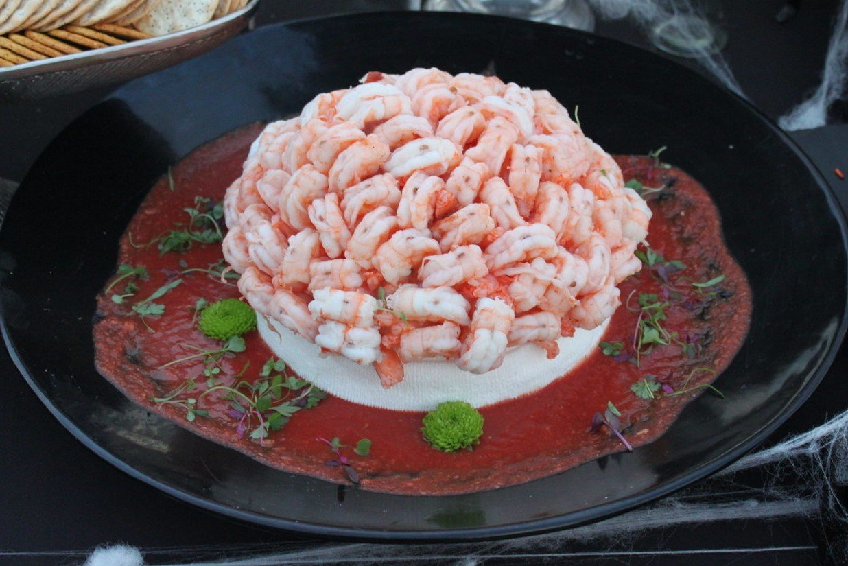 halloween party food | shrimp brains