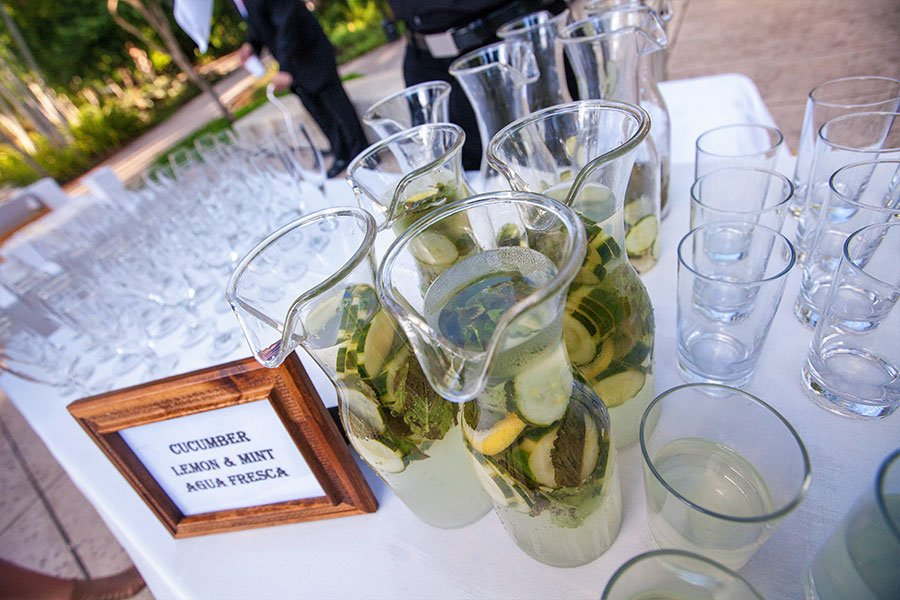 unique wedding venues | pre-ceremony agua fresca station