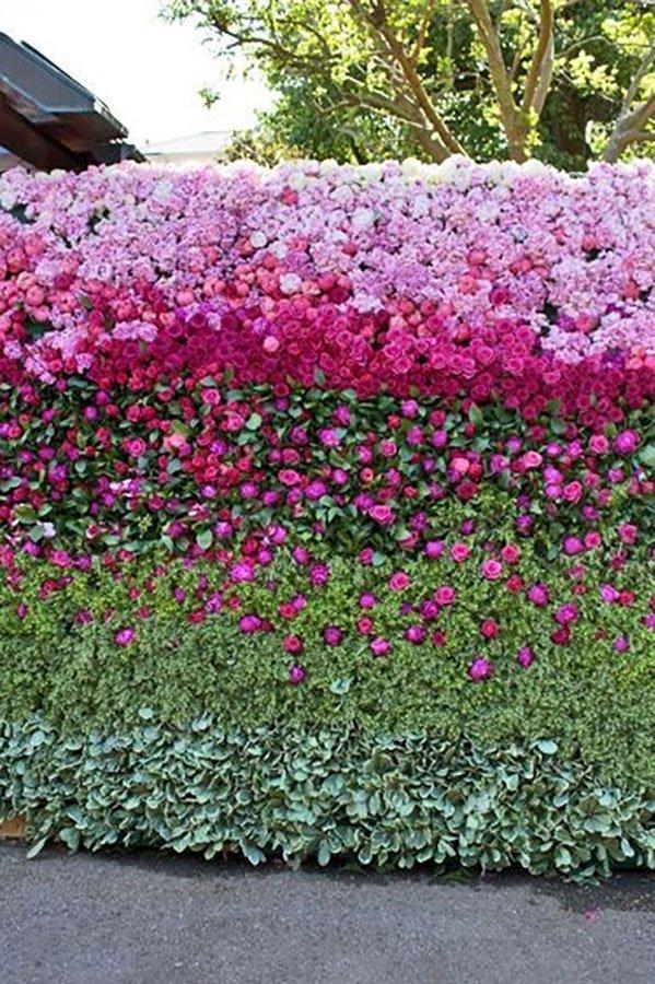 wedding reception ideas | tropical wedding reception floral wall