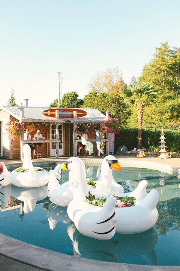 post-wedding pool party