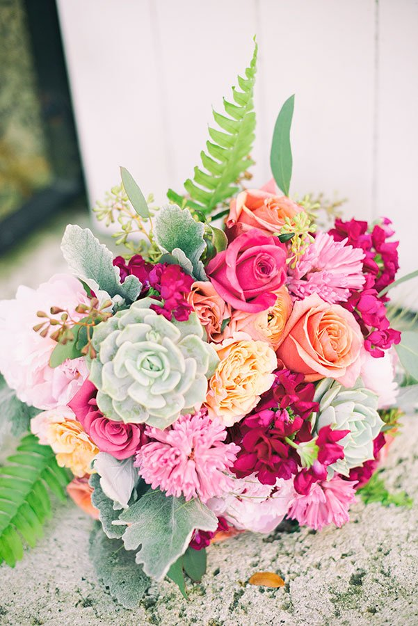 tropical wedding bridal bouquet | tropical wedding flowers