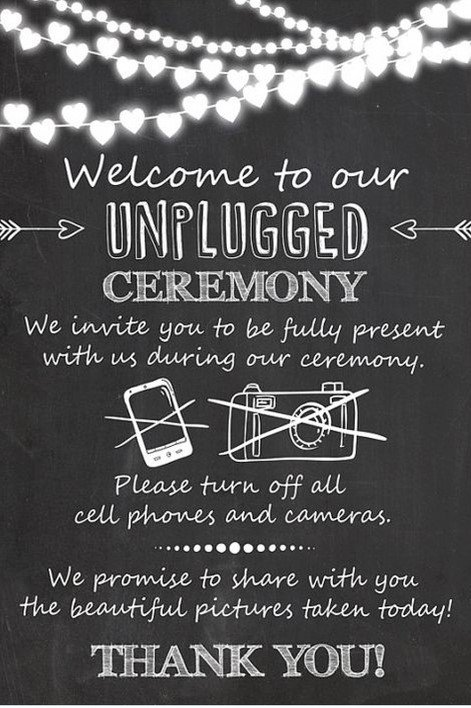 unplugged wedding ceremony | sign