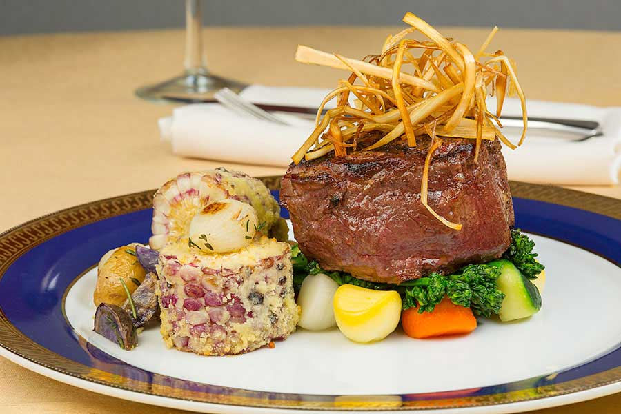 best catering companies in miami | filet mignon with roasted parmesan corn