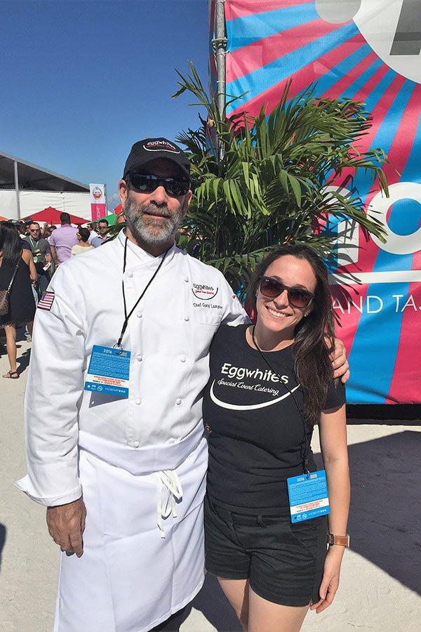 Chef Gary Lampner and Sarah Lampner at SOBEWFF
