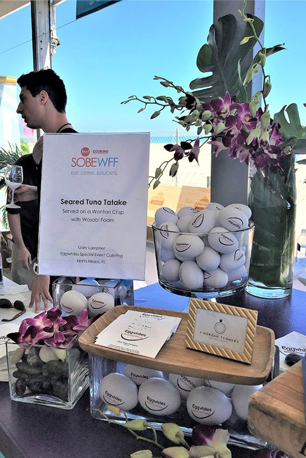 Eggwhites Catering booth at south beach food and wine