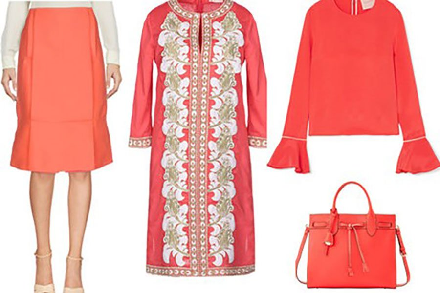 wedding color palette | living coral fashion