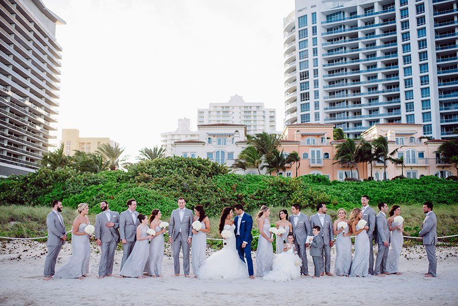 south florida beach wedding | the bath club miami beach