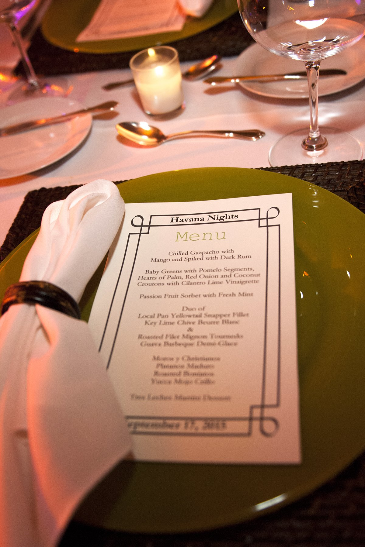 destination wedding trends | havana nights themed dinner menu