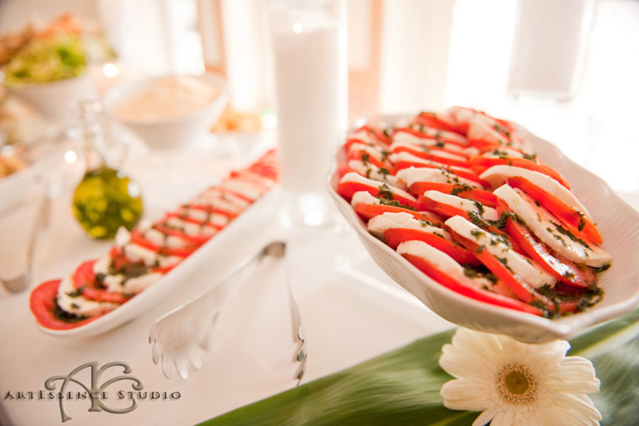 casual wedding reception menu | caprese salad