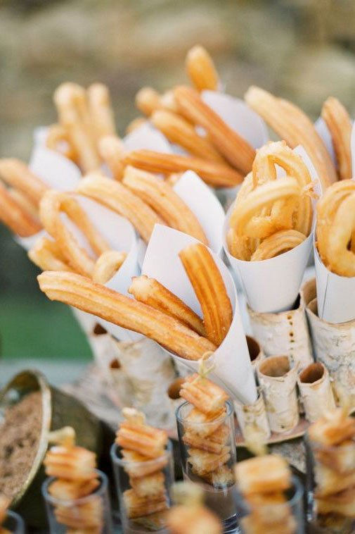 destination wedding trends | themed menu | churros