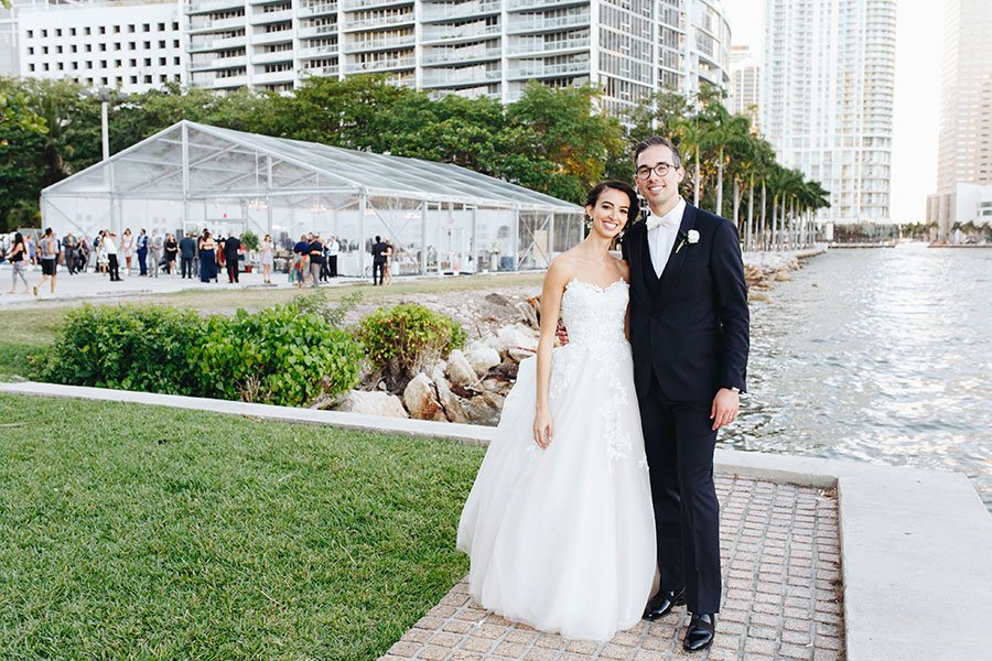 florida destination wedding | brickell wedding reception