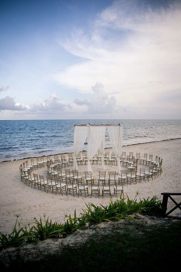 florida destination weddings trend | ceremony in the round