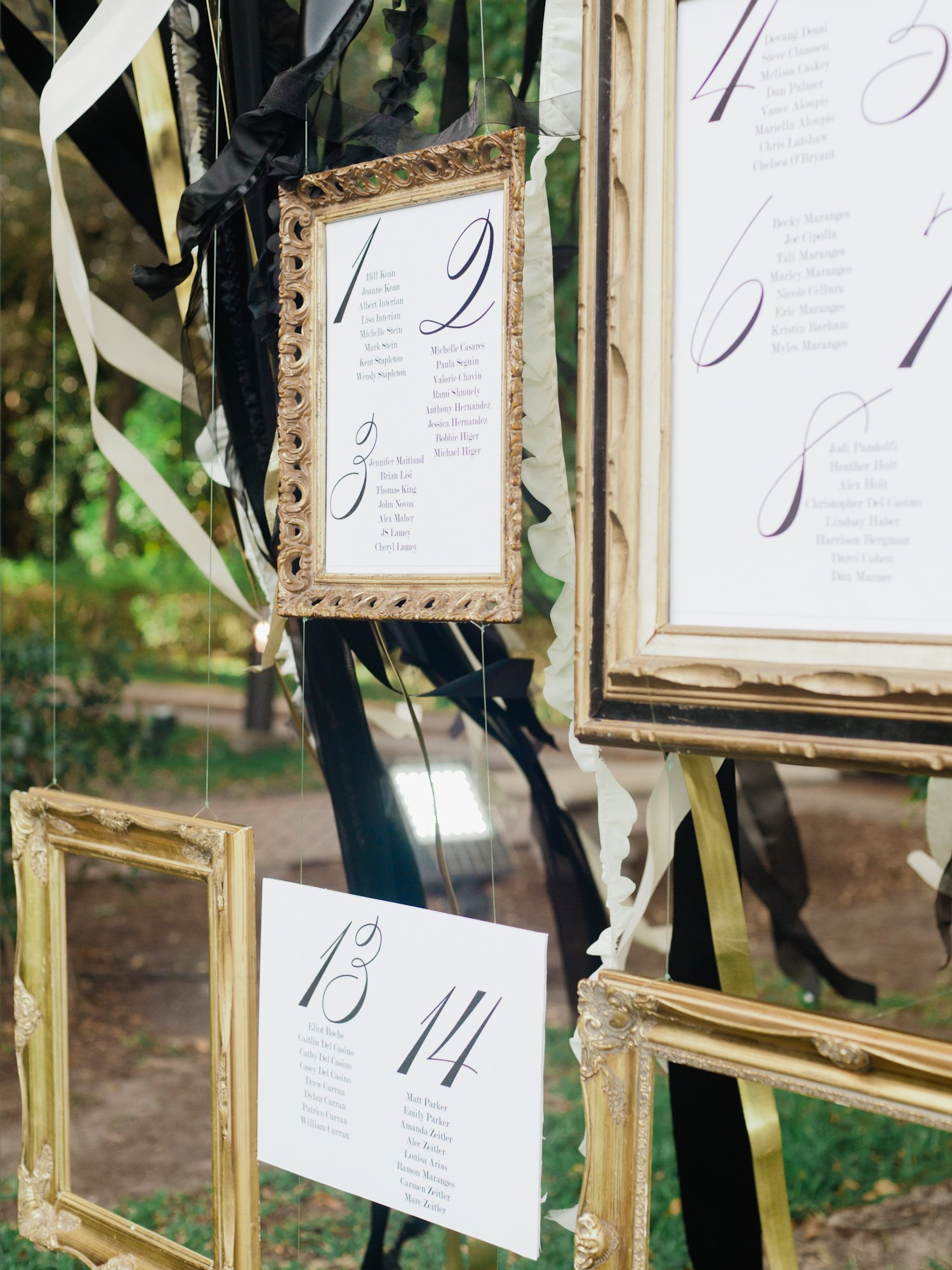 unique wedding seating chart ideas | individual picture frames