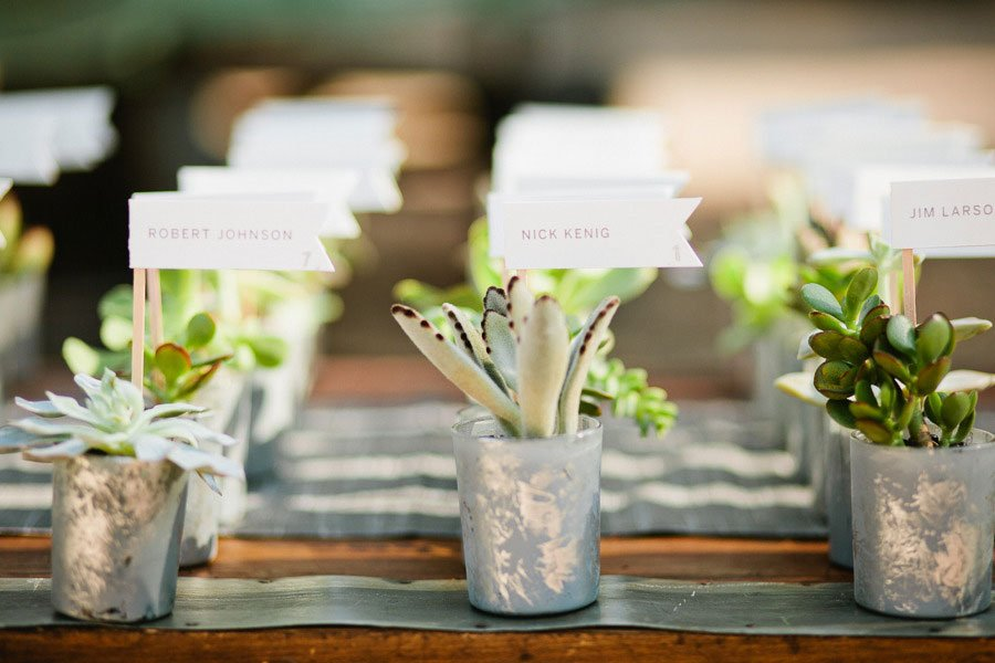 statement escort cards | edible escort card holder