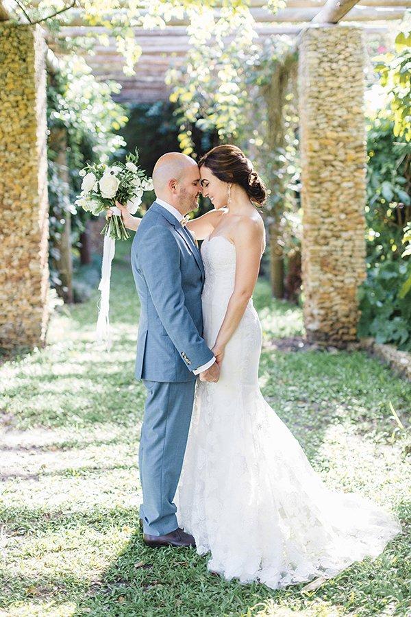 couple at fairchild tropical botanic garden wedding