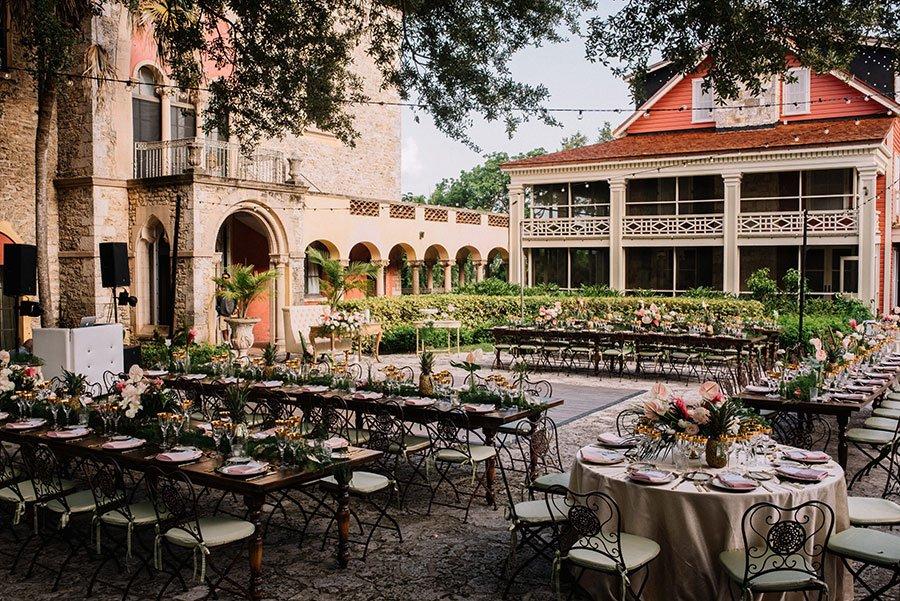 luxury wedding venues miami outdoor | deering estate courtyard