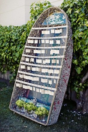 unique wedding seating chart ideas | row boat