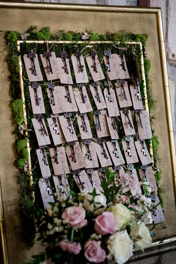 unique seating chart ideas | escort card keys
