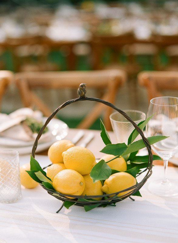 bridal shower ideas | citrus centerpiece